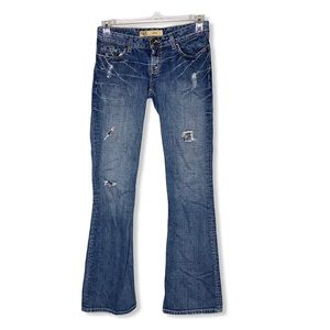 BKE Star Distressed Flare Jeans